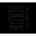 ΣΤΡΟΓΓΥΛΟ ΑΛΟΥΜΕΝΕΝΙΟ ΒΙΔΩΤΟ ΕΠΙΔΑΠΕΔΙΟ ΝΙΚΕΛ ΜΑΤ ΣΤΟΠ ΠΟΡΤΑΣ ΜΕ ΔΙΠΛΟ ΜΑΥΡΟ ΛΑΣΤΙΧΟ METALOR 061 ΣΤΟΠ ΠΟΡΤΑΣ